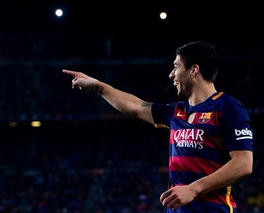 Luis Suarez ăn mừng sau khi ghi bàn. Ảnh: Internet.