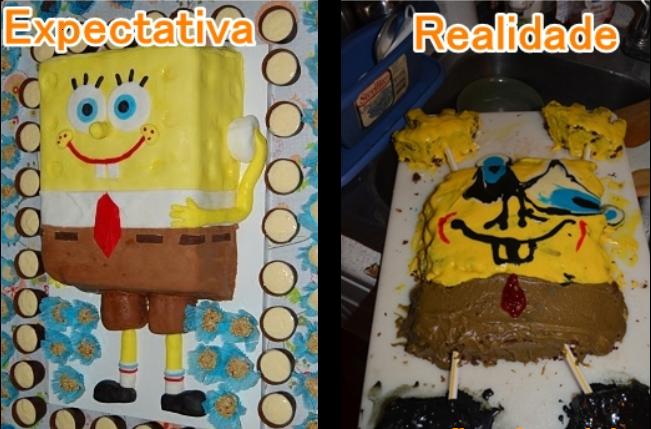 Sự khác biệt khi chàng bọt biển trứ danh Spongerbobxuất hiện trên bánh ngọt.(Ảnh: Internet)