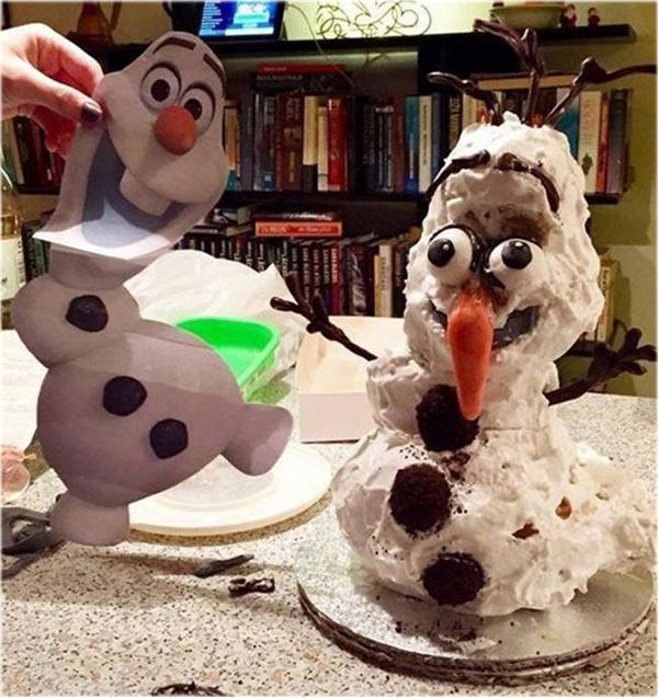 """""""Là tôi, người tuyết đây. Các bạn có nhận ra tôi?"""".(Ảnh: Internet)"""