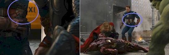 Captain America thì mạnh đấy, nhưng línào cả cái thắt lưng cũng có thể tự liền lại được? (Ảnh: Internet)