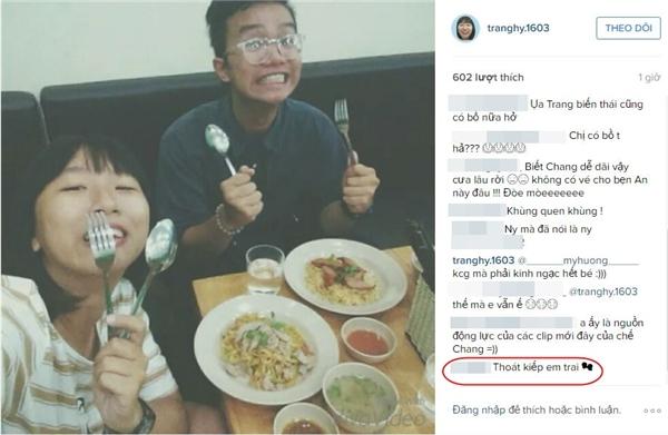 """Người yêu Trang Hý cũng tỏ ra hào hứng khi đã chính thức được """"thoát kiếp em trai"""". (Ảnh chụp màn hình)"""