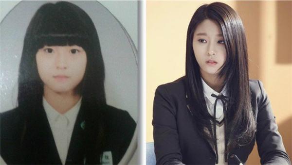 """Nhìn vào hình thời trung học của Seolhyun (AOA), mọi người không khỏi trầm trồ khen ngợi: """"Ốm như hiện nay thì không nói, đến cả lúc gương mặt tròn trịa như thế này trong vẫn xinh""""."""