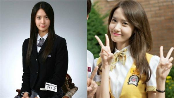 """Từ khi còn là nữ sinh trung học, nhan sắc của Yoona đã được mọi người chú ý. Vẻ ngoài """"đẹp từ trong trứng nước"""" đến nay giúp thành viên SNSD dành về danh hiệu """"nữ thần Kpop"""" đến nay vẫn chưa ai có thể thay thế."""