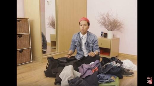 Mẹo Hay 180: Duy Khánh Zhou Zhou chia sẻ cách sắp xếp quần áo vào vali
