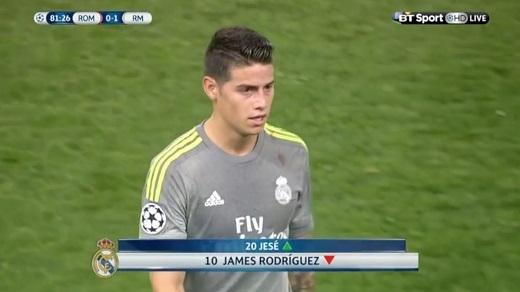 "James Rodriguez đang bị ""thất sủng"" ở Santiago Bernabeu."