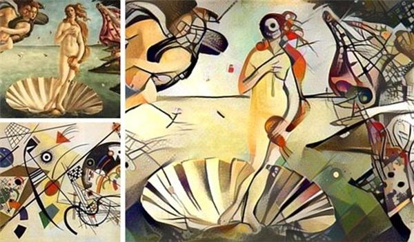 Wassily Kandinsky và Botticelli đã được sáp nhập với nhau để tạo ra một nghệ thuật trang trí mang phong cách mới.