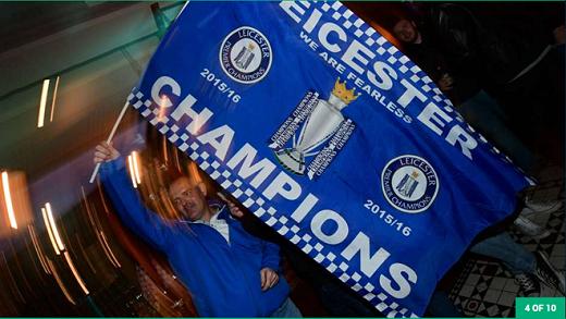 Leicester là đội vô địch thứ 6 tại giải Ngoại hạng có số ngày trên đỉnh bảng xếp hạng hơn 100.
