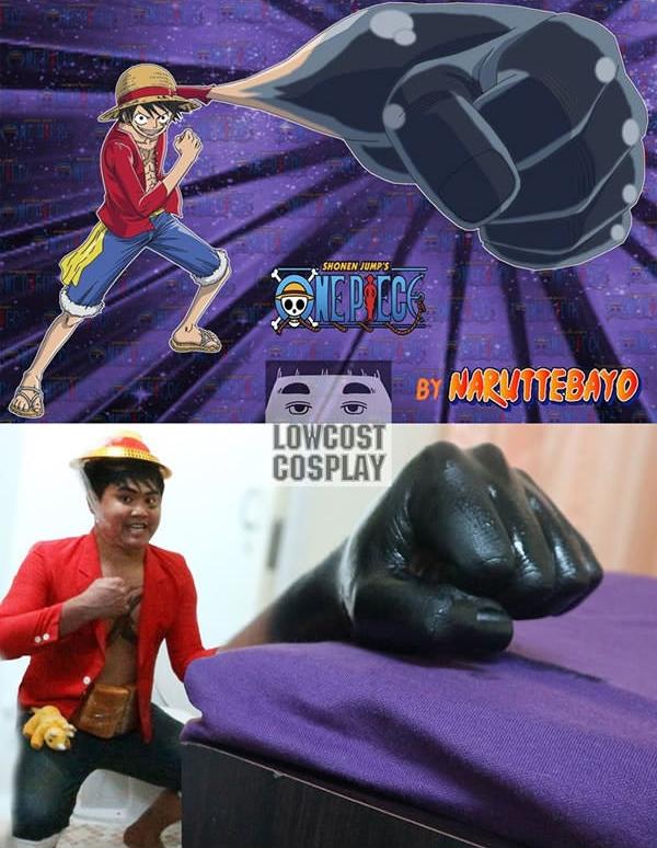 Có ai thấy mất hình tượng Luffy không? Có vẻ cũng... dễ thương mà, phải không? (Ảnh: Lowcostcosplay)