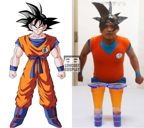 Từ bây giờ sẽ không thể nhìn Goku bằng con mắtcũ được nữa rồi. (Ảnh: Lowcostcosplay)