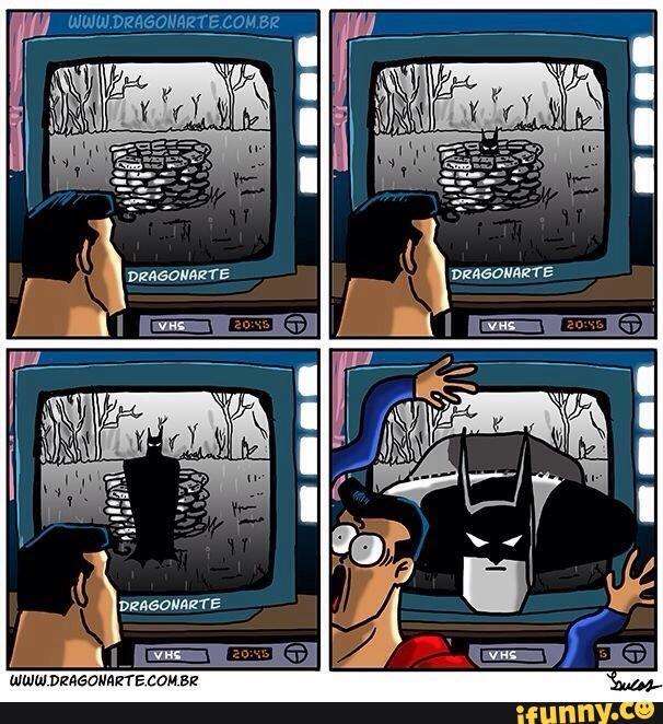 Muốn hù dọa được Superman, chỉ có thể nhờ đến cái bản mặt thanh niên nghiêm túc của Batman.