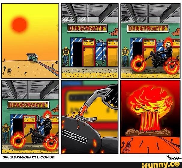 Khi Ghost Rider đi đổ xăng.