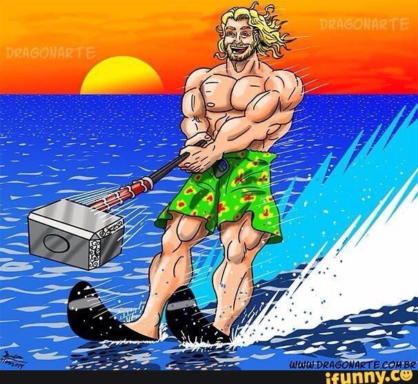 Kỳ nghỉ hè sảng khoái của Thor.