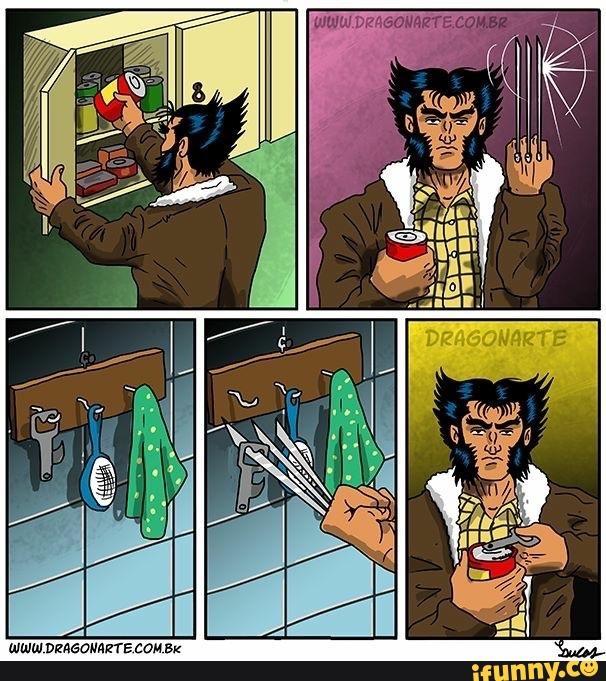 Công dụng của móng vuốt Wolverine là để nối dài cánh tay chứ còn gì nữa.