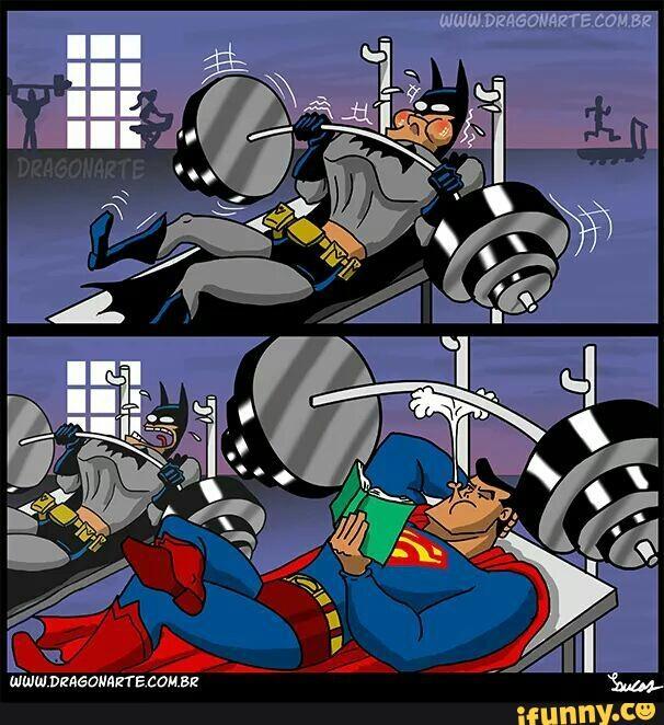Thật ra anh đến phòng gym chỉ để làm nhục Batman mà thôi.