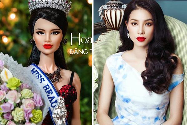 Môi dày, mọng gợi cảm cùng gương mặt góc cạnh đậm chất phương Tây là những nét tương đồng dễ thấy nhất ở Đặng Thùy Nam và Phạm Hương.