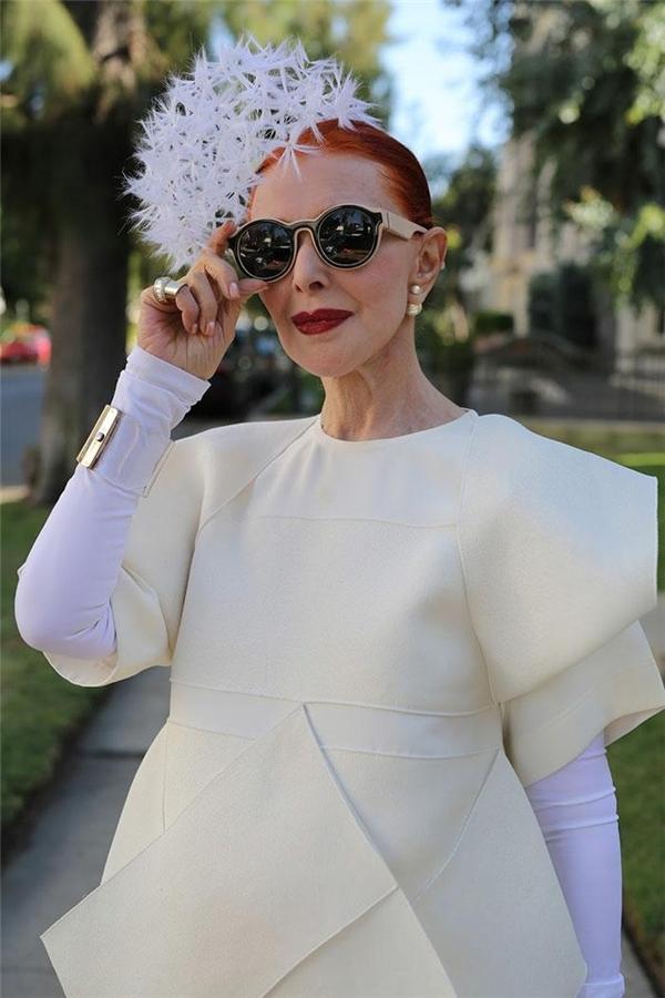 Bà Valerie von Sobel là một trong những Fashionista lớn tuổinổi tiếng thế giới. (Ảnh: Internet)