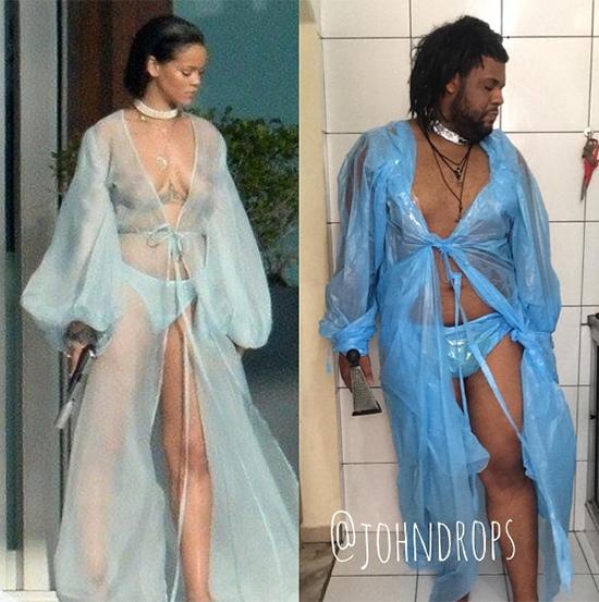 """Chị em song sinh """"khác cha khác mẹ"""" của Rihanna."""