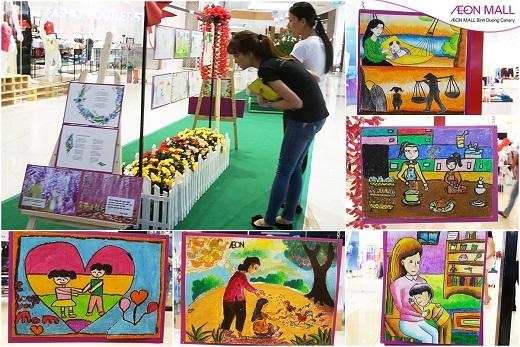 Những bức tranh ngây ngô nhưng đong đầy tình cảm của các bé tại Triển Lãm Tranh Về Mẹ (1/4/2016 – 8/5/2016) được người xem vô cùng yêu thích.