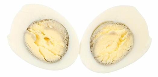 Thỉnh thoảng trứng luộc có hiện tượng xuất hiện quầng đen quanh tròng đỏ.
