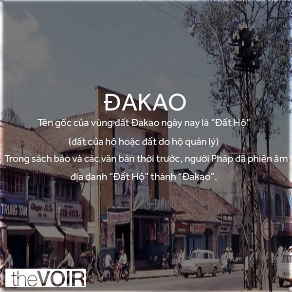 """Tên gọi phiên âm tiếng Pháp""""ĐaKao"""" đã ăn sâu vào tiềm thức người dân Sài Gòn. (Ảnh: TheVOIR)"""