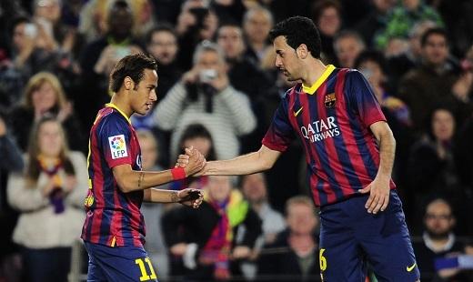 Cặp đôi Neymar - Busquets đang được PSG theo dõi khá sít sao