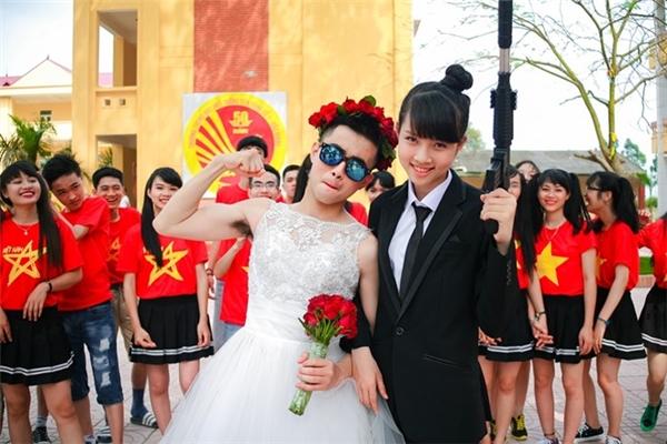 Cặp cô dâu, chú rể trong bộ ảnh là Lê Hoàng Vũ và Hoàng Thị Hồng Ngọc.