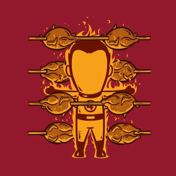 Có lò quay nào cần tuyển nhân viên, hãy liên hệ với The Human Torch.