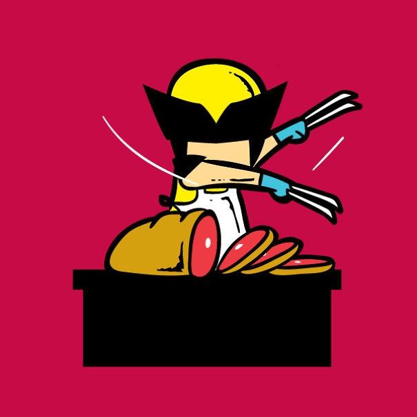 Bản mặt bặm trợn, hai cánh tay chắc khỏe cùng bộ vuốt sắc bén như dao, Wolverine dường như được sinh ra để làm anh hàng thịt.