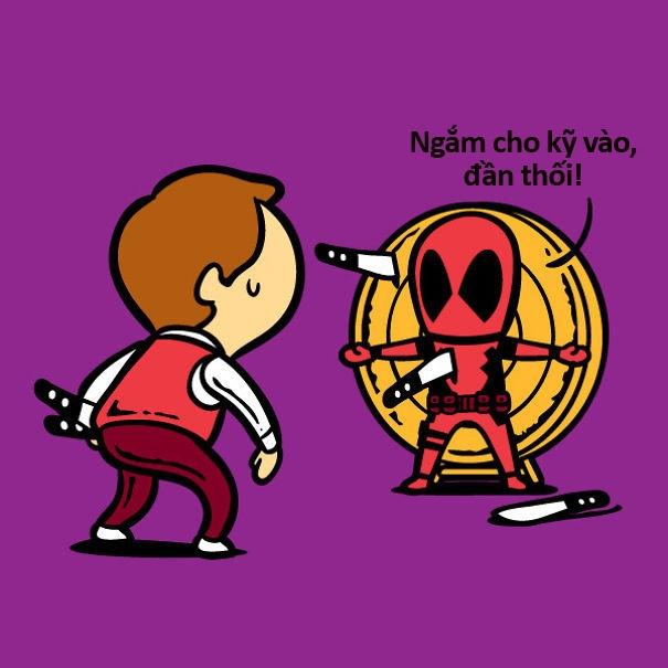 Đẹp trai như Deadpool mà cũng có lúc phải đi diễn tạp kỹ dạo kiếm tiền.