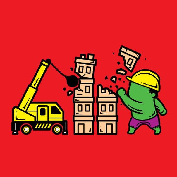 Hulk, anh công nhân dỡ nhà rất tận tụy với nghề.