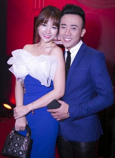 Trấn Thành cùng Hari Won tại một lễ trao giải truyền hình vừa qua. - Tin sao Viet - Tin tuc sao Viet - Scandal sao Viet - Tin tuc cua Sao - Tin cua Sao