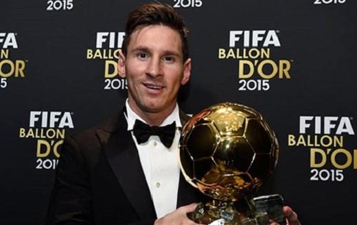 Messi đang giữ QBV FIFA, nhưng năm 2016 này anh sẽ chịu sự cạnh tranh mạnh
