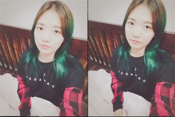 Đôi mắt một mí đặc trưng của gái Hàn tạo nên nét đẹp rất riêng cho cô nàng.