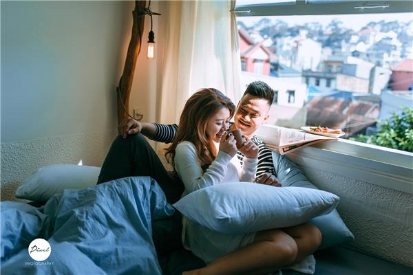 Bộ ảnh cưới của cặp đôi được thực hiện tại thành phố Đà Lạt mộng mơ. (Ảnh: NVCC)