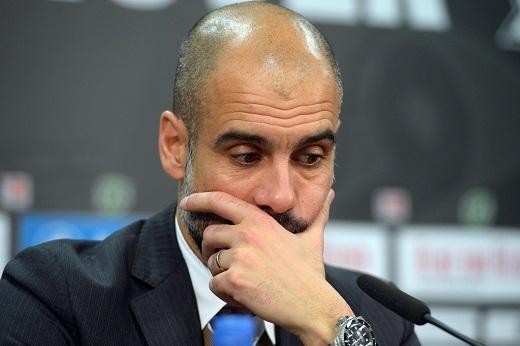 HLV Pep Guardiola đang phải chịu rất nhiều chỉ trích sau thất bại trước Atletico Madrid