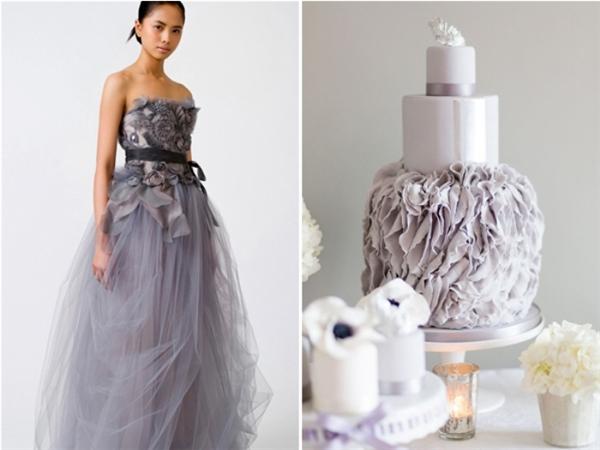 Những bộ váy cưới trông không khác chiếc bánh kem ngọt ngào. Từng đường nét, họa tiết đã có sự trùng khớp đến khó tin.