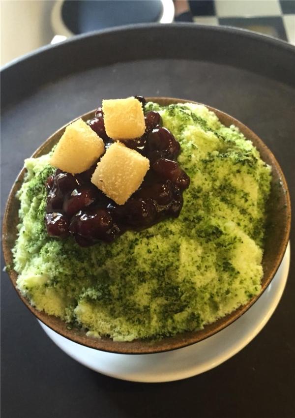 Patbingsu trà xanh ngon dịu dàng, giá cả lại cực kì nhẹ nhàng – 55.000 đồng/suất. (Ảnh: Internet)