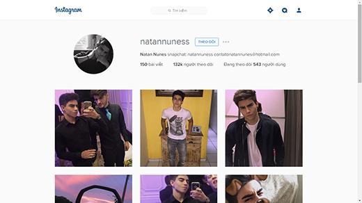 Có tới 132 ngàn lượt theo dõi trên Instagram của anh chàng. (Ảnh: Internet)