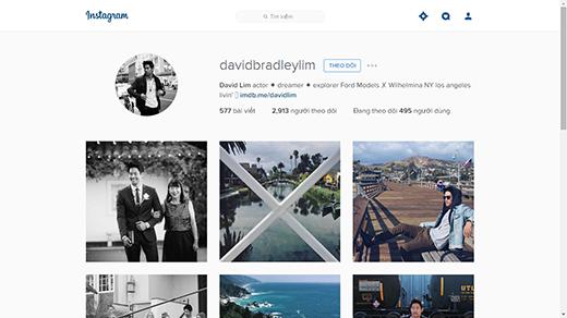 DavidLimcó hơn 2 ngàn lượt theo dõi trên Instagram. (Ảnh: Internet)