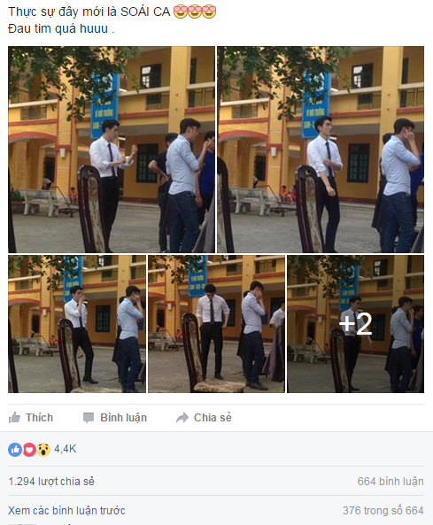 Bài đăng gây sốt về anh chàng soái ca áo trắng(Ảnh: Internet)