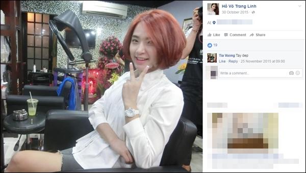 Trên mạng xã hội,bạn gái Tiến Dũng thường chia sẻ một số hình ảnh của Hải Băng khi cô đến ủng hộ tiệm nail của Trang Linh làm đẹp. - Tin sao Viet - Tin tuc sao Viet - Scandal sao Viet - Tin tuc cua Sao - Tin cua Sao