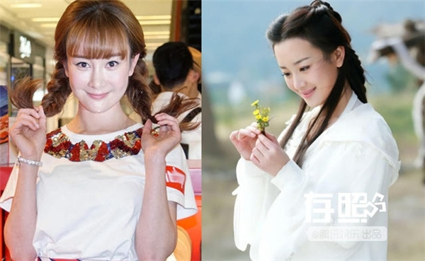 Trương Mông hiện tại (bên trái) biến đổi khác thường so với Vương Ngữ Yên thuần khiết năm xưa.