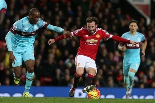 """West Ham thường """"cóng chân"""" mỗi lần đối đầu Man United. Ảnh: Internet."""