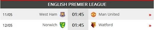 01h45 ngày 11/05, West Ham vs Man United: Thời khắc vàng