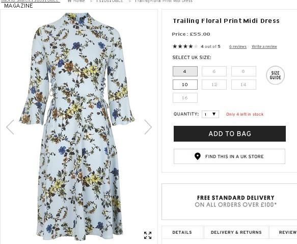 Chiếc váy hoa nhẹ nhàng, ngọt ngào của Hồ Ngọc Hà có giá khoảng 1 triệu đồng. Món trang phục này không chỉ phù hợp để dạo phố. Các cô gái có thể kết hợp chúng cùng giày cao, túi xách hoặc ví cầm tay để đến những buổi tiệc sang trọng.