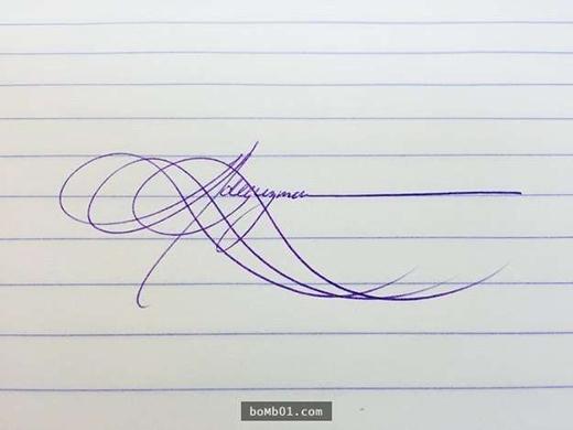 Chữ ký này đích thị là một tác phẩm nghệ thuật. (Ảnh: Internet)