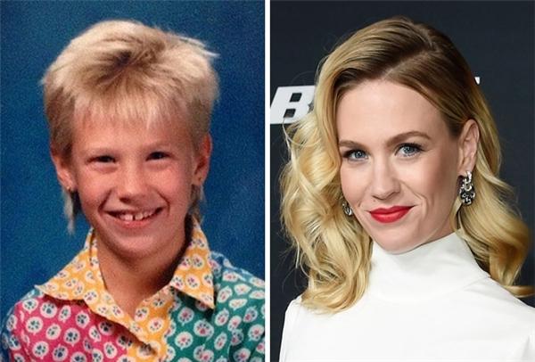 """Cô nàng Emma Frost """"kim cương"""" trong X-Men ngày nhỏ trông không khác gì con trai với khuôn mặt không có nét gì nổi bật. (Ảnh: januaryjones; Kevin Mazur)"""