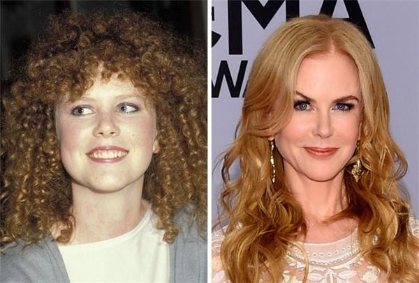 Kiểu tóc cùng lối trang điểm lỗi thời của Nicole đã khiến cô trông rất quê mùa và kém gợi cảm. (Ảnh: Patrick Riviere; Larry Busacca)