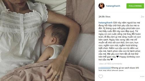 """Tấm ảnh duy nhất Tăng Thanh Hà để lộ nhiều góc mặt của con trai khiến cộng đồng mạng """"phát sốt"""" và đẩylượng người yêu thích lên đến hơn 24.000. - Tin sao Viet - Tin tuc sao Viet - Scandal sao Viet - Tin tuc cua Sao - Tin cua Sao"""