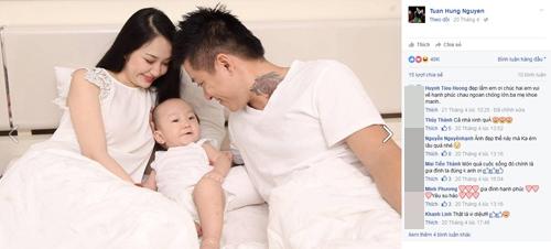 Gia đình hạnh phúc của chàng ca sĩ đào hoa nhất nhì showbiz Việt khiến công chúng ngưỡng mộ. Bức hình này nhận được hơn 40.000 like. - Tin sao Viet - Tin tuc sao Viet - Scandal sao Viet - Tin tuc cua Sao - Tin cua Sao